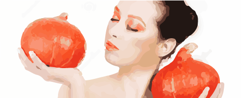 pumpkins lady