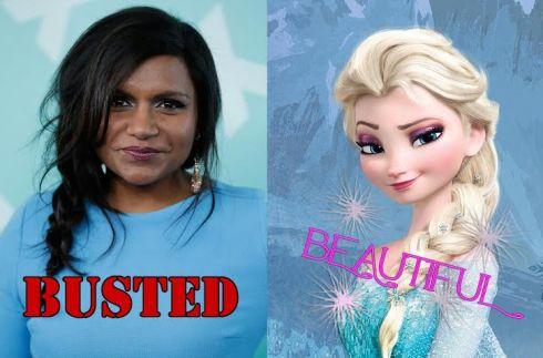 Mindy Kaling Frozen Elsa