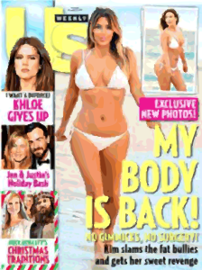 Kim-k got her body back pregnancy weightloss